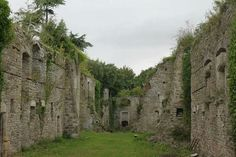 The ruins of an older part of Thornbury castle in Gloucestershire.