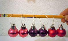 Fun Small Plastic Ornament Hoop Earrings-- upcycled. $3.00, via Etsy.
