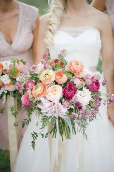 This Muster Rose mix featured ranunculus, roses, and dahlias, the latter of which came in a seriously-lovely purple.