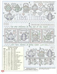 Tea Time Sampler - June 2005