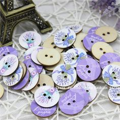 Wood Sewing Button Scrapbooking Round At Random Two Holes Lavender Dragonfly Pattern 24.0mm Dia,50 PCs,DIY Clothing Accessories-in Buttons from Home, Kitchen & Garden on Aliexpress.com | Alibaba Group