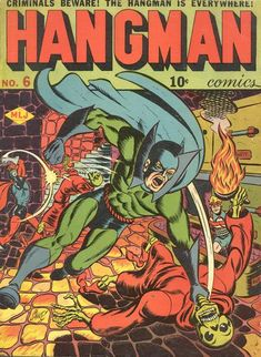 Cover for Hangman Comics (Archie, 1942 series) Archie Comics, Marvel Comics, War Comics, Comic Book Covers, Comic Books, Thing 1, Splash Page, Horror Comics, Classic Comics