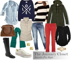The January Closet: 14 key pieces remixed for over a week's worth of outfits.