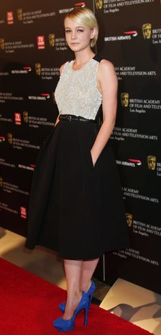 Carey Mulligan in Preen. With pockets. Yes.