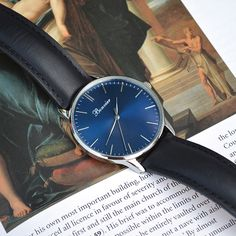 Details - Classic Blue. Free shipping worldwide - www.bonvier.com #bonvier #watches #orologi