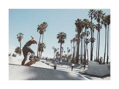"""Santa Barbara Skate 4"" - Art Print by Kamala Nahas in beautiful frame options and a variety of sizes."