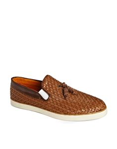 H By Hudson Fountain Woven Tassel Loafers