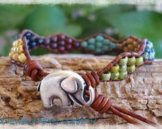 ORIGINAL DESIGN Seed Bead Leather Wrap by AZJEWELRYBYELIZABETH