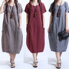Womens Solid Casual Short Sleeve Loose Dress Cotton Linen Midi Long Kaftan - Linen Dresses - Check out for the Linen Dresses for sales. - 0 The post Womens Solid Casual Short Sleeve Loose Dress Cotton Linen Midi Long Kaftan appeared first on Dress Honey. Plus Size Maxi Dresses, Plus Size Outfits, Short Sleeve Dresses, Summer Dresses, Loose Dresses, Evening Dresses, Mori Girl, Fashion Casual, Fashion Women