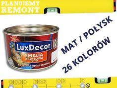 Kup teraz na allegro.pl za 15,90 zł - EMALIA AKRYLOWA MAT/POŁYSK DO DREWNA, METALU -0,4l (5317818200). Allegro.pl - Radość zakupów i bezpieczeństwo dzięki Programowi Ochrony Kupujących!