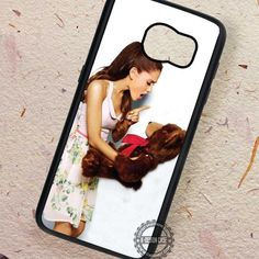 Cute Ariana Grande with Teddy Bear - Samsung Galaxy S7 S6 S5 Note 7 Cases & Covers
