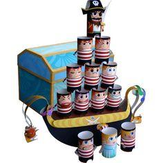 Balance-Spiel,Spielzeuge,Papiermodelle,Schmuck,Schatzkasten,Piraten-Puppen,Spiele