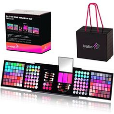 """Ivation All-in-One Makeup Kit Gift Set - Contains Truly Vast Collection of Eyeshadows, Blushes, Powders, Eyeliners, Lip Glosses & More - Folds Out from 4.72"""" x 5.51"""" x 5.51"""" Cube Ivation http://www.amazon.com/dp/B00Q5AGG5W/ref=cm_sw_r_pi_dp_0-bLvb0CNZQR7"""