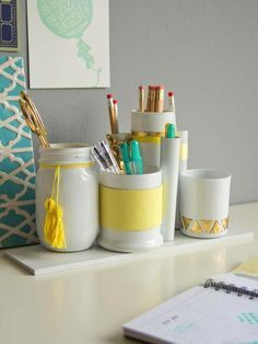 The Prettiest Organizational Hacks for Every Room in Your Home via Brit + Co