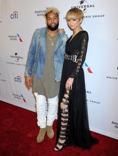 Zendaya and Odell Beckham Jr at the Universal Music Group Grammy After Party 2/15/16