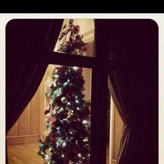 Looking in on Christmas 2.  #Christmas, #tree, #window