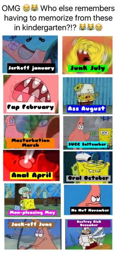 Memorize the months of the year with this easy chart