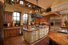 This Italian kitchen is a Mediteranean-style dream. - via StyleListCanada