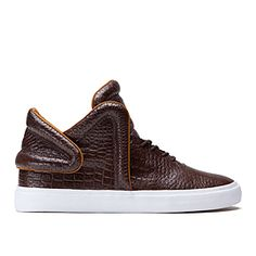 newest c63a7 99cbc FALCON   BROWN CROC - WHITE Supra Shoes, Supra Footwear, Official Store, Low