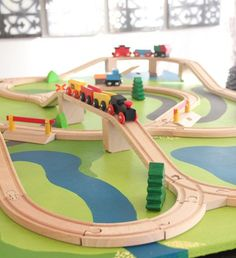DIY Train Board @ preparingforpeanut.com