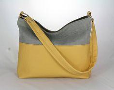 kabelka Aneta žltá + šedá