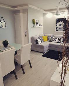 Pisos para sala: conheça os tipos e inspire-se com 60 fotos Cute Dorm Rooms, Cool Rooms, Living Room Designs, Living Room Decor, Apartment Living, Cheap Apartment, House Design, Interior Design, Decoration