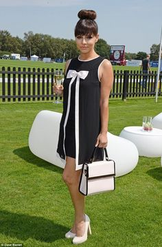Natural beauty: Roxanne - pictured Audi International at Guards Polo Club - revealed, 'I could be skinner but I love my food too much'