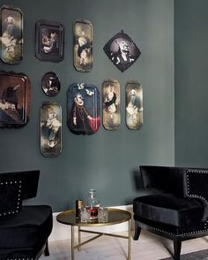 Galerie de Portraits collection #ibride #tray #artwork #design #home #decoration #wall #painting #interior #kitchen #tableware (photo @bobedredk)