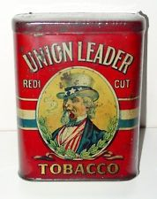 Union Leader Redi Cut Tobacco Tin - Hard-to-Find Variation