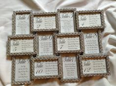 SILVER Flower Bling Wedding Seating Chart by BringOutTheBling, $80.00