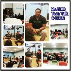 "Mr. EDIB hosted the first ""Teen Talk"" series at the Bristol Boys & Girls Club on November 21st."