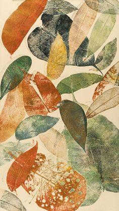leaf monoprints - Google Search