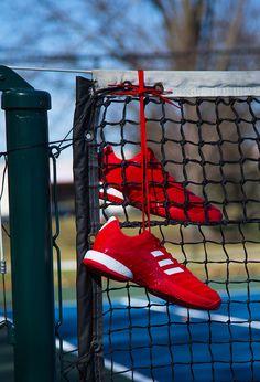 de4ead4d adidas Barricade 2018 Boost Mens Tennis Shoe - Scarlet/ White/ Scarlet