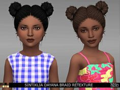 Sintiklia Dayana Braid Retexture by Margeh75 at Sims Addictions via Sims 4 Updates