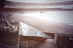 Polo Grounds with a pennant, Their first home while waiting for Shea to be completed for Shea Stadium, Yankee Stadium, Sports Stadium, Stadium Tour, Baseball Park, Sports Baseball, Candlestick Park, Polo Grounds, Washington Nationals
