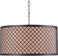 Kenroy Home 93312BRZ Hawthorn Oil Rubbed Bronze Drum Hanging Light Fixture - KEN-93312BRZ
