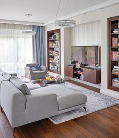 A Rózsadomb egyik legszebb részén, egy új építésű társasház földszintjén keresett és talált otthont magának a háromtagú család.