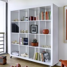 Charming Rolly 4x4 Bookcase On Castors