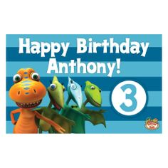 Dinosaur Train All Aboard The Birthday Train Placemat from PBS Kids Shop