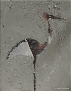 Day 137. Recycled Art Bird | Bird-A-Day Art
