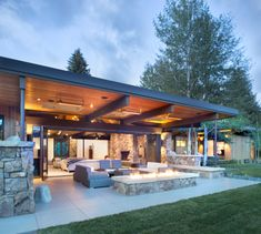 36 Enchanting Modern Patio Design Ideas That You Will Love - Setting up your patio furniture is not enough it would be nice if you embellish it with outdoor accents and accessories for a stylish and fabulous loo. Modern Backyard Design, Backyard Patio Designs, Outdoor Kitchen Design, Modern Gazebo, Outdoor Kitchens, Covered Patio Design, Backyard Covered Patios, Outdoor Pergola, Outdoor Patios