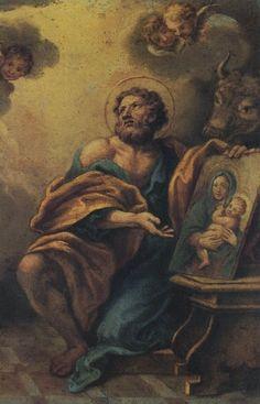 San LUCAS evangelista Lucas Evangelista, Luke The Evangelist, Religious Photos, Catholic Saints, Bible, Cards, Angels, Paintings, Saints
