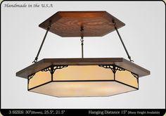 Antique Style Craftsman Chandelier > Craftsman Light Fixture
