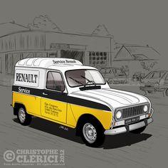 Les illustrations de christophe: Renault Service F4