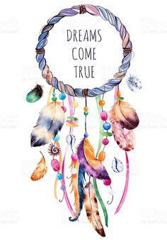 Dreamcatcher Wallpaper, Watercolor Dreamcatcher, Dreamcatcher Feathers, Dream Catcher Drawing, Dream Catcher Painting, Urbane Kunst, Arte Fashion, Dream Catcher Native American, Free Vector Art
