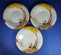 THREE VINTAGE BURLEIGH WARE ZENITH PAN DESIGN ART DECO SAUCERS | eBay Pattern 4848. Feb 2018. GBP25 BIN.