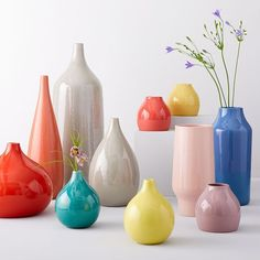Bright Ceramicist Vase, Oversized Tall Teardrop, Yellow at West Elm - Vases - Home Decor - Pottery