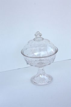 Vintage Atomic Glas Covered Candy Dish
