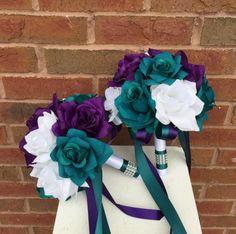13 pc wedding package-Dark Teal Plum Purple and by AngelIsabella