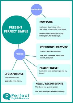Present Perfect Infographic